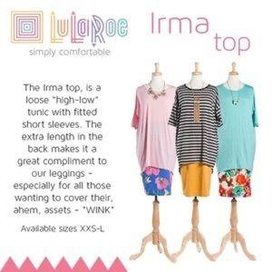 LuLaRoe Tops - LuLaRoe | Ribbed Gray Irma Top, S